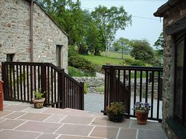Patio area at West Slose Cottage