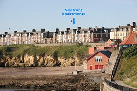Seafront Apartments from Cullercoats bay
