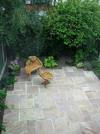 Private rear courtyard garden to The Stables