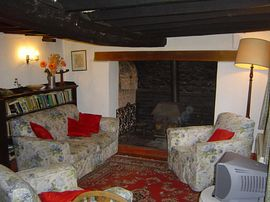 Living room with inglenook