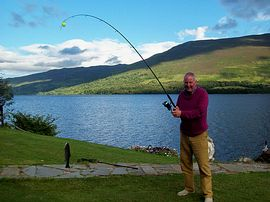 Fishing in the garden on Loch Earn 15 March to 6th October