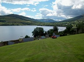View from top of the garden to Loch Earn