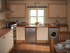 Spacious well equiped kitchen.