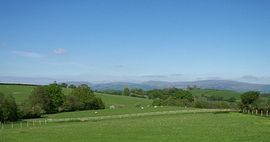 View of fells from Locka Old Hall Cottage