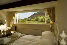 King size bedroom with a view