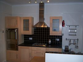 Fully equipped modern fitted kitchen