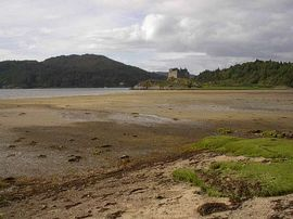 Castle Tioram and Dorlin beach