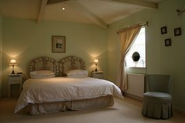 One of the double bedrooms at Grange Cottage