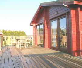 Side decking view