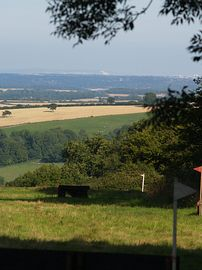 View of the Dorset hills