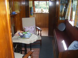 The main room inside the wagon
