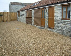 Stable Cottage entrance and communal courtyard