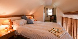 The galleried Double bedroom