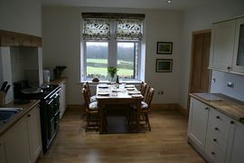 Spacious kitchen with Aga cooker