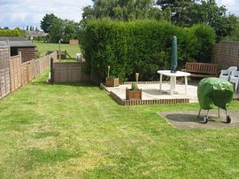 the back garden looking to Kemps Field