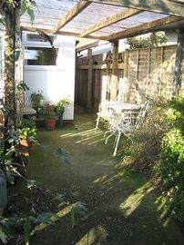 Enclosed small front garden